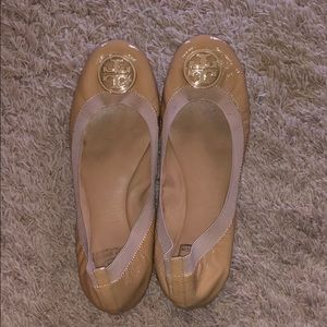 Authentic Nude Tory Burch flats